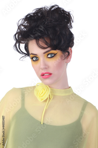 High Fashion Woman With Piercing Eyes