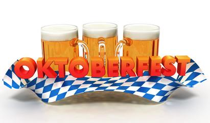 Oktoberfest Banner mit Bierkrug