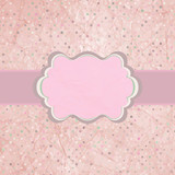 Pink polka dot design frame with dot. EPS 8