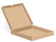 brown pizza box open