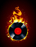 Burning vinyl record