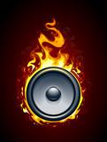 Fototapety Burning speaker