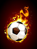Fototapety Burning soccer ball