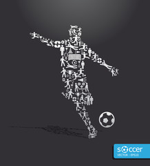 icons sports vector concept soccer