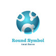 Round icon. Abstract symbol