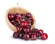 Spilled ripe cherries