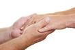 Hände geben Unterstützung