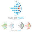 Company (Business) Logo Design, Vector, Cubes, Globe