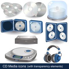CD - DVD media icons