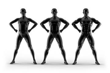 portrait bodybuilder, different pose