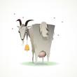 Постер, плакат: смешная коза иллюстрация