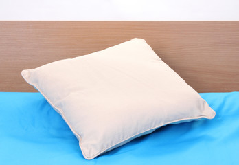pillow on bed on white background