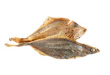 Salted flounder isolated on the white background poster