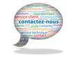 """Nuage de Tags """"CONTACTEZ-NOUS"""" (aide service clients contact)"""