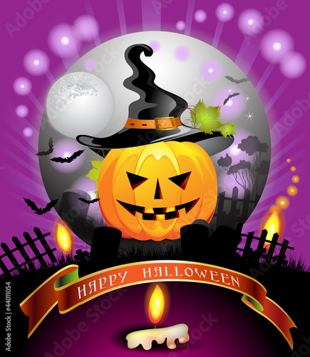 Halloween card design
