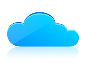 Blue 3D cloud