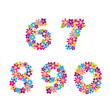 Beautiful floral numbers. Vector