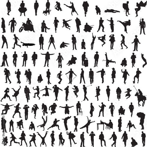 Collection silhouettes of men