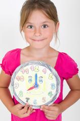 Mädchen mit Uhr