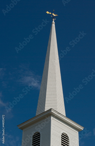 white church spire