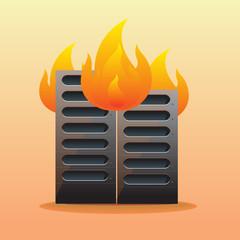 burned server