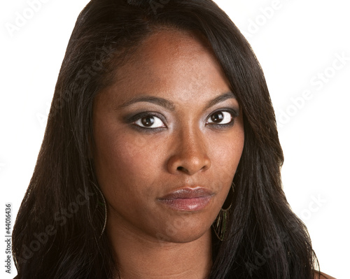 Beautiful and Serious Black Woman