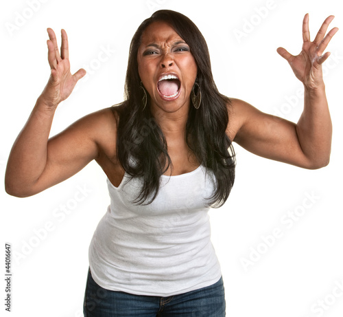 Screaming Black Woman