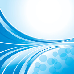 Wave pattern blue background