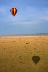 Hot air balloon over Masai Mara