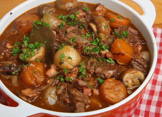 French Beef Bourguignon Stew