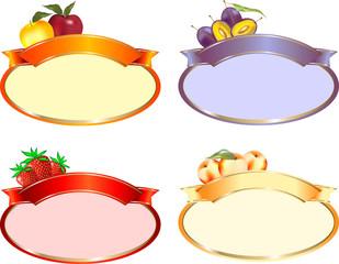 Etichetta ovale confetture varie