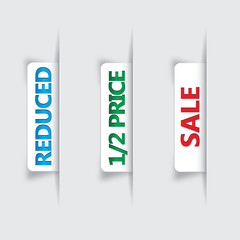 Vector labels for sale and reduced