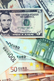 Two leading hard currencies - US Dollar and Euro