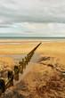 Sandy beach and groyne