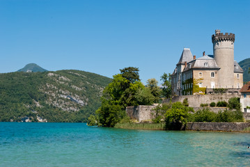 Duingt Castle, Annecy Lake, France