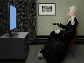 Whistler's Mother Flipping Channels