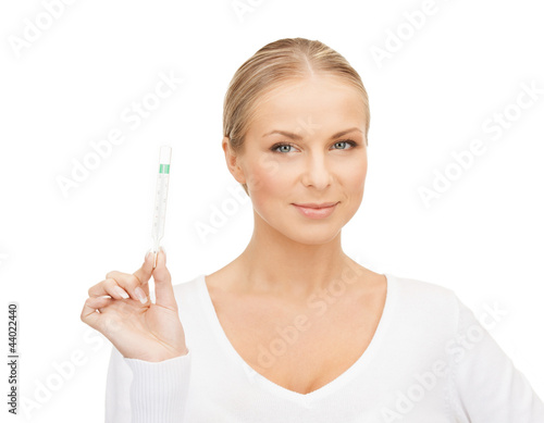 female doctor with thermometer