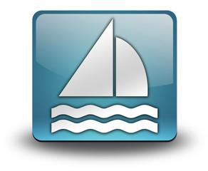 "Light Blue 3D Effect Icon ""Sailing"""