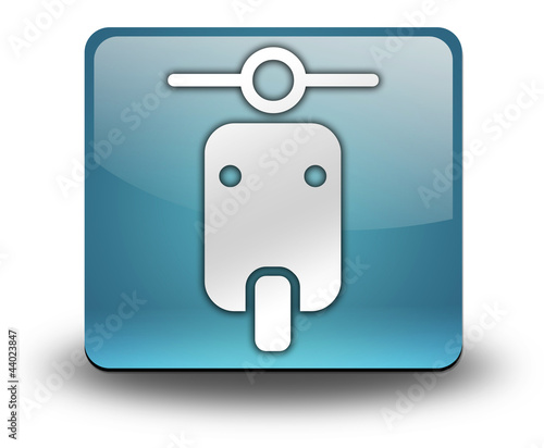 """Light Blue 3D Effect Icon """"Scooter"""""""