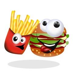 fast food cartoon