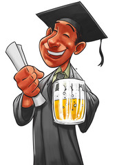 student and the pint