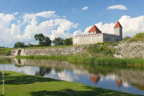 The medieval episcopal castle, Kuressaare, Estonia.
