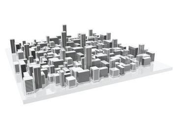 Modelo de ciudad de uso en arquitectura