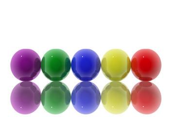 Esferas de colores