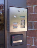 Electronic door directory and security pad poster