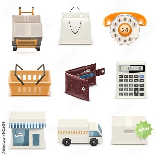 shopping vector icon set