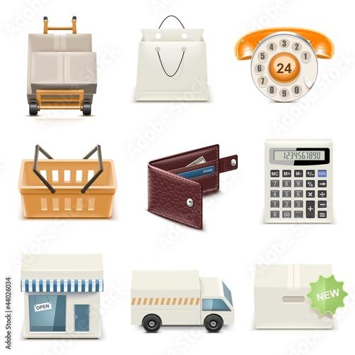 shopping vector icon set