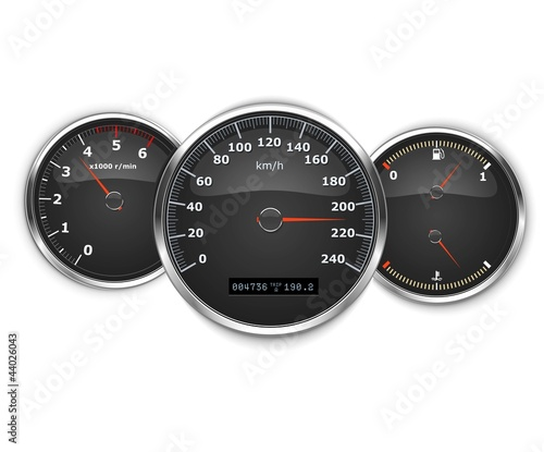 vector car speedometer