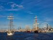 Leinwanddruck Bild - Segelschiffe auf der Hanse Sail 2012 in Rostock.