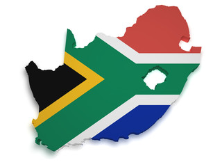 South Africa Map 3d Shape